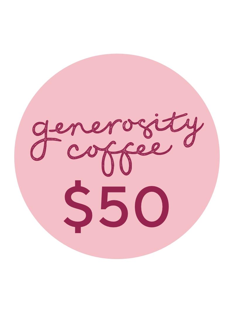 generosity coffee voucher 50 birkenhead gift